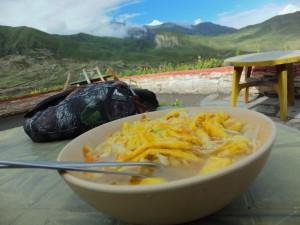 egg noodle soup muktinath