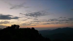 australian camp sunset